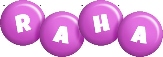 Raha candy-purple logo