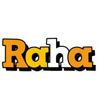 Raha cartoon logo