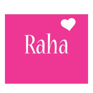 Raha love-heart logo