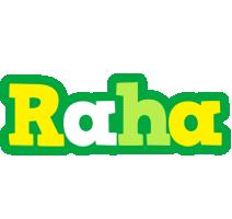 Raha soccer logo
