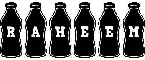 Raheem bottle logo