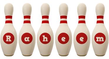 Raheem bowling-pin logo