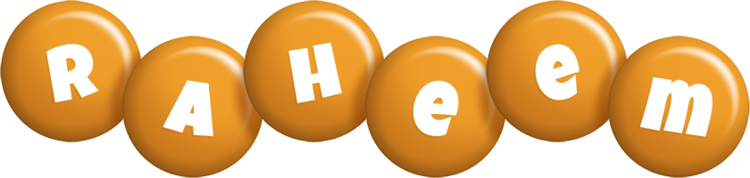 Raheem candy-orange logo
