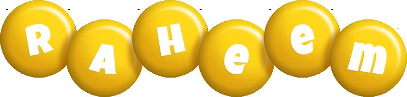 Raheem candy-yellow logo