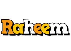 Raheem cartoon logo