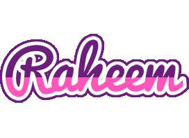 Raheem cheerful logo