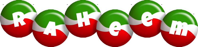 Raheem italy logo