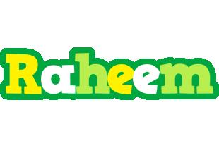 Raheem soccer logo