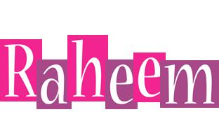 Raheem whine logo