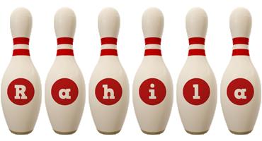 Rahila bowling-pin logo