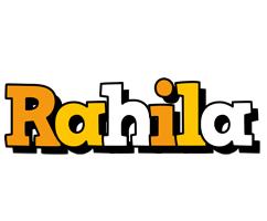 Rahila cartoon logo