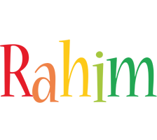 Rahim birthday logo