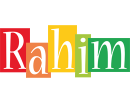 Rahim colors logo
