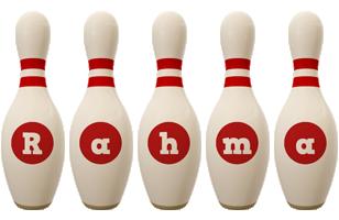 Rahma bowling-pin logo