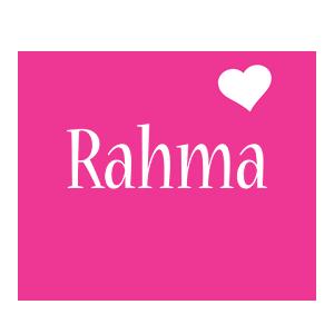 Rahma love-heart logo