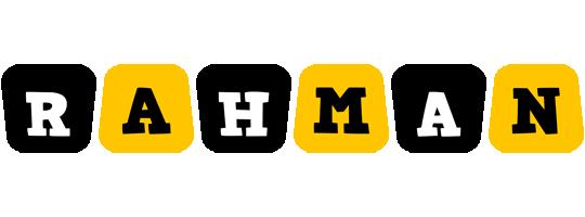 Rahman boots logo