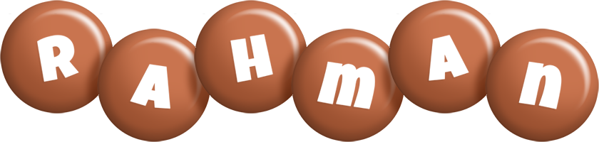 Rahman candy-brown logo