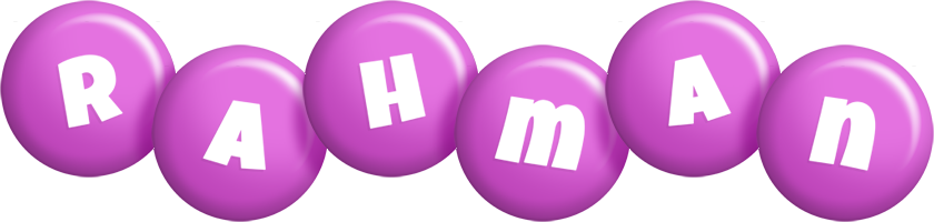 Rahman candy-purple logo