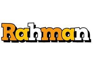 Rahman cartoon logo