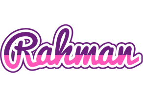 Rahman cheerful logo