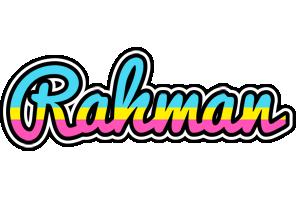 Rahman circus logo