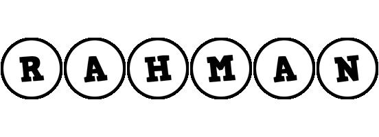 Rahman handy logo