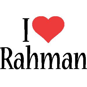Rahman i-love logo