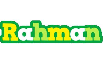 Rahman soccer logo