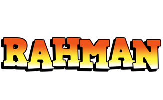 Rahman sunset logo