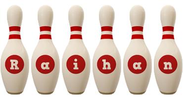Raihan bowling-pin logo