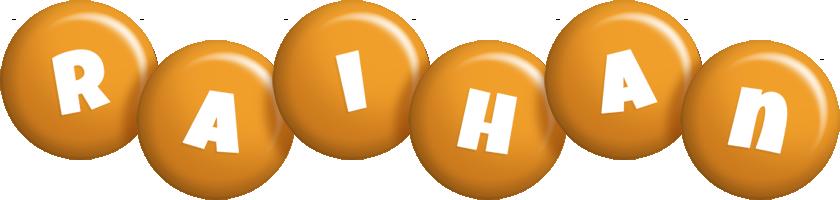 Raihan candy-orange logo