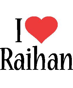 Raihan i-love logo