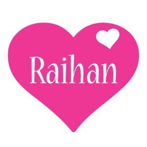Raihan love-heart logo