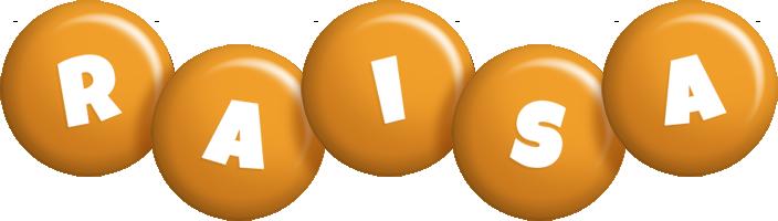 Raisa candy-orange logo