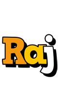 Raj cartoon logo