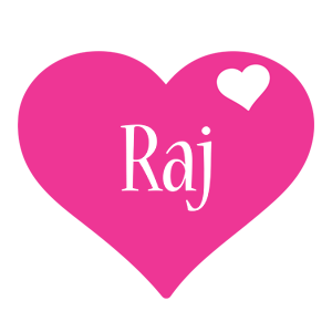 Raj love-heart logo