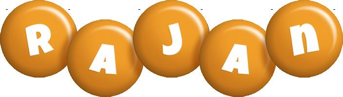 Rajan candy-orange logo