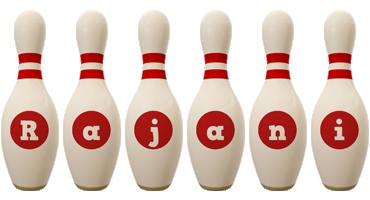 Rajani bowling-pin logo