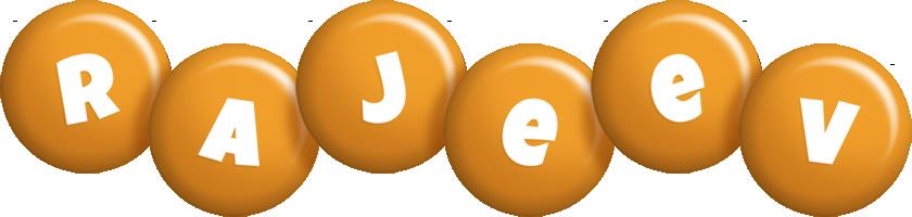 Rajeev candy-orange logo
