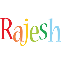 Rajesh birthday logo