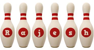 Rajesh bowling-pin logo