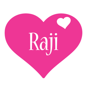 Raji love-heart logo