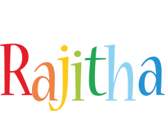 Rajitha birthday logo