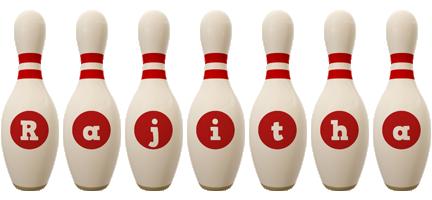 Rajitha bowling-pin logo