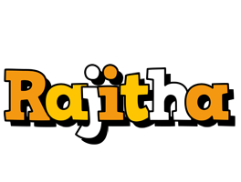 Rajitha cartoon logo
