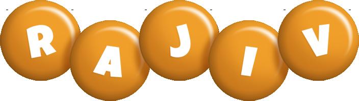 Rajiv candy-orange logo