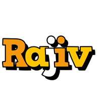Rajiv cartoon logo