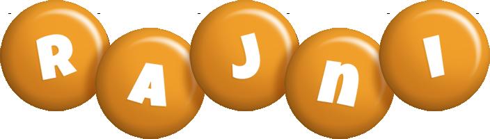 Rajni candy-orange logo