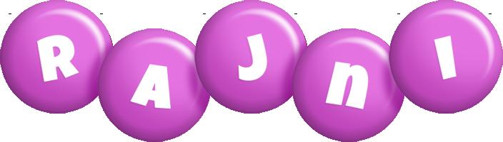 Rajni candy-purple logo