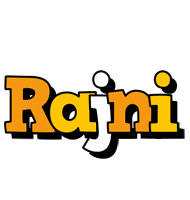 Rajni cartoon logo